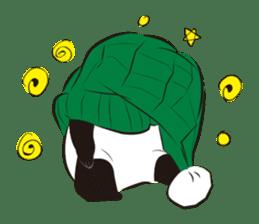 Knit panda sticker #2749076