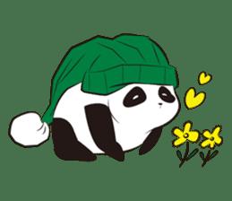 Knit panda sticker #2749077