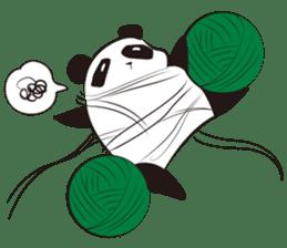 Knit panda sticker #2749078