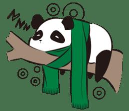 Knit panda sticker #2749079