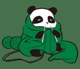 Knit panda sticker #2749080