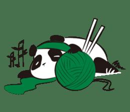 Knit panda sticker #2749081