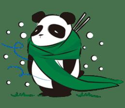 Knit panda sticker #2749082