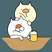 สติ๊กเกอร์ไลน์ Cat and Beer