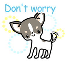 Kawaii Chihuahua (English) sticker #2752346