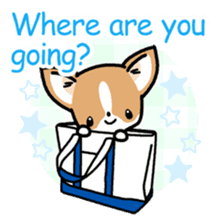 Kawaii Chihuahua (English) sticker #2752359