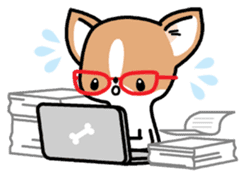 Kawaii Chihuahua (English) sticker #2752364