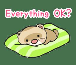 Ferret Good luck(English) sticker #2753607