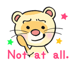 Ferret Good luck(English) sticker #2753618