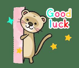 Ferret Good luck(English) sticker #2753625