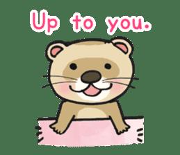 Ferret Good luck(English) sticker #2753631