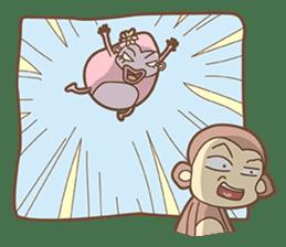 Juking Monkey. sticker #2758002