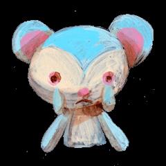 pink bunny&blue bear
