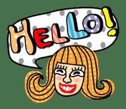 Miss Vivid Polka Dot sticker #2777675