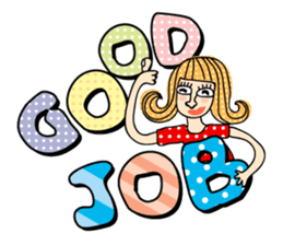 Miss Vivid Polka Dot sticker #2777691