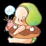 สติ๊กเกอร์ไลน์ Natural-daze baby cute stickers