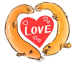 Golden Dojo Loach Sticker sticker #2782847