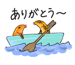 Golden Dojo Loach Sticker sticker #2782863