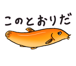 Golden Dojo Loach Sticker sticker #2782878