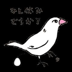 お待たせ鳥ブンゴとお友達スタンプ