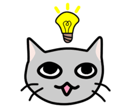 A pictographic sticker. Expressive cat. sticker #2795817