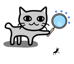 A pictographic sticker. Expressive cat. sticker #2795818