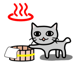 A pictographic sticker. Expressive cat. sticker #2795819