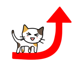 A pictographic sticker. Expressive cat. sticker #2795821