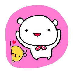 Simple sticker!kumapiyo!
