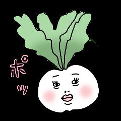 シュールなお野菜スタンプ