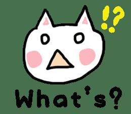 English cat Sticker kawaii sticker #2808620