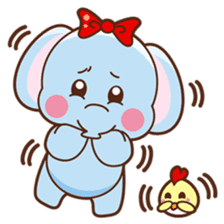 Emy the funny elephant sticker #2825340