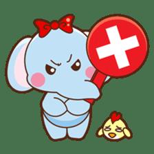 Emy the funny elephant sticker #2825346