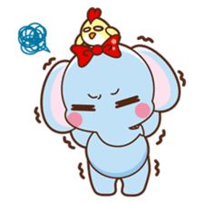 Emy the funny elephant sticker #2825352