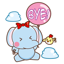 Emy the funny elephant sticker #2825356