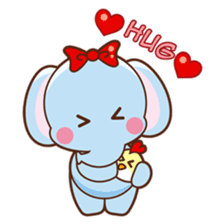 Emy the funny elephant sticker #2825369
