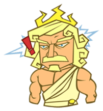 Awkward Zeus sticker #2847864