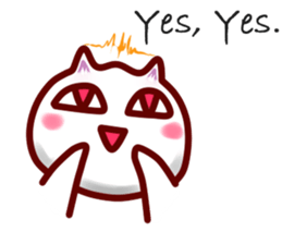 comical cat guy(in English) sticker #2852745