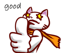 comical cat guy(in English) sticker #2852747
