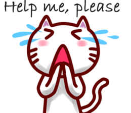 comical cat guy(in English) sticker #2852756