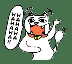 Strange cat stickers. sticker #2859096