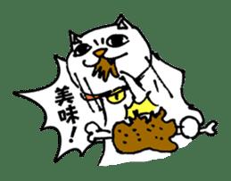 Strange cat stickers. sticker #2859117