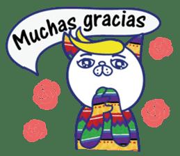 funny cat&cab Spanish sticker #2860687