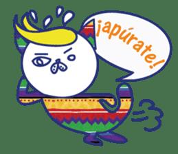 funny cat&cab Spanish sticker #2860688