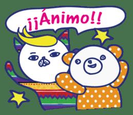 funny cat&cab Spanish sticker #2860689