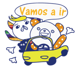 funny cat&cab Spanish sticker #2860701