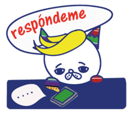 funny cat&cab Spanish sticker #2860706