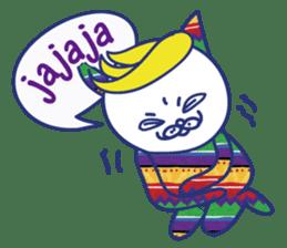 funny cat&cab Spanish sticker #2860709