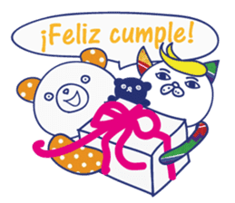 funny cat&cab Spanish sticker #2860720