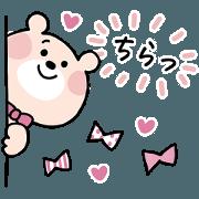 สติ๊กเกอร์ไลน์ cute kumako Sticker 2